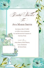 Product Image For Blue Floral Cake Invitation