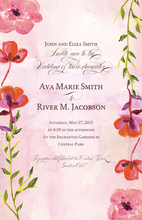 Product Image For Pink Floral Vines Invitation