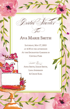Product Image For Pink Floral Cake Invitation