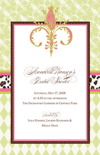 Product Image For Fleur De Lis  Invitation