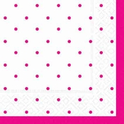 Product Image For Swiss Dot - Pink Luncheon Napkin