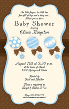 Product Image For Baby Boy Rattles Invitation