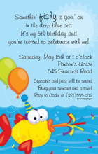 Product Image For Fun Fish Party Invitation