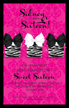 Product Image For Pretty Zebra Presents Invitation