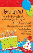 Product Image For Big Birthday Invitation