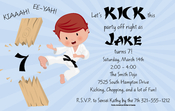 Product Image For Karate Kid Invitation