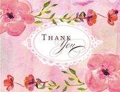 Product Image For Pretty Pink Petals Note Card