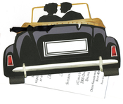 Product Image For Wedding Car Die Cut invitation