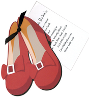 Product Image For Dorothy Shoes Die Cut Invitation