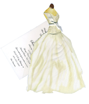 Product Image For Beaded Bridal Gown w/Tulle Die Cut Invitation