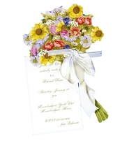 Product Image For English Garden Bouquet Die Cut Invitation