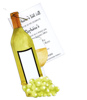 Product Image For White Wine with Grapes Die Cut Invitation
