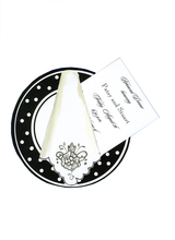 Product Image For Polkadot Dinner Plate Die Cut Invitation