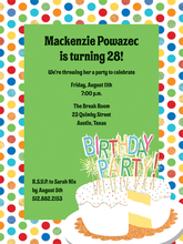 Product Image For Happy Birthday Candles Invitation