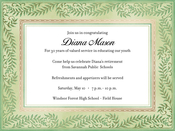 Product Image For Fern Fronds Invitation