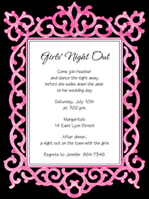 Product Image For Chic Frame - Pink & Black - Invitation