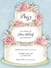 Product Image For Floral Wedding Cake Invitation