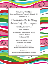 Product Image For Wave Stripe Invitation
