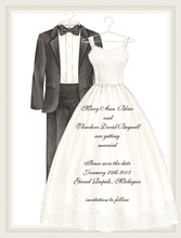 Product Image For Wedding Dress & Tuxedo Invitation