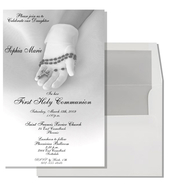 Product Image For Communion Glove Invitation