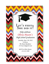 Product Image For Zigzag Grad Invitation
