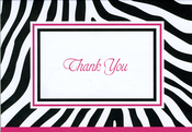 Product Image For Zebra Pink Notecard