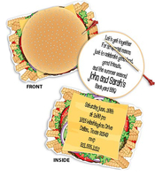 Product Image For Cheeseburger Invitation