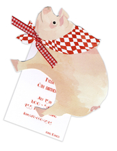 Product Image For This Little Piggy DieCut Invitation