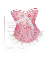 Product Image For Pink Corset Die Cut Invitation