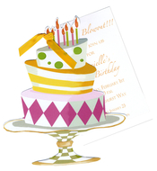Product Image For Whimsical Cake Die Cut Invitation