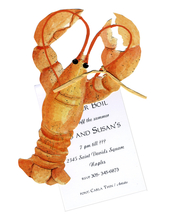 Product Image For Lobster Die Cut Invitation