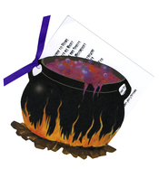 Product Image For Witches Cauldron Die Cut Invitation