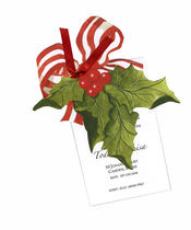 Product Image For Holly With Bow Die Cut Invitation