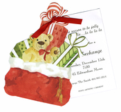 Product Image For Santa Bag Die Cut Invitation