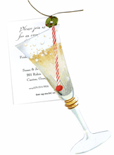 Product Image For Holiday Champagne Die Cut Invitation
