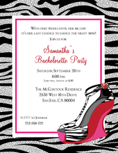 Product Image For Zebra Wedge Invitation