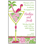 Product Image For Cocktails and Flamingos Invitation