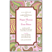 Product Image For Wild Pink Paisley Invitation