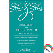 Product Image For Mr. & Mrs. Invitation