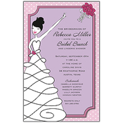 Product Image For Pink Polkadot Bride Invitation