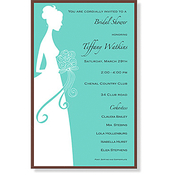 Product Image For Teal Married Bliss Invitation