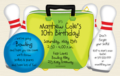 Product Image For Bowling Bag Digital Invitation