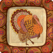 Product Image For Holiday Turkey Dessert Plate