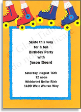 Sports invitations sports party invitations sports stationery product image for roller skates stopboris Choice Image