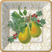 Product Image For Holiday Pears Dinner Plate