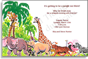 Product Image For Safari Animals Invitation
