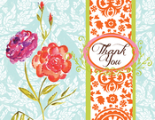 Product Image For Watercolor Flower w/Orange Note Card