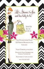 Product Image For Chevron Chic Invitation