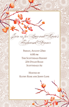 Product Image For Cherry Blossoms Invitation