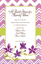 Product Image For Violet Chevron Invitation